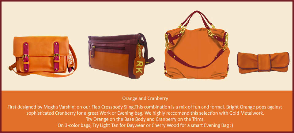 Toteteca Trends Orange and Cranberry