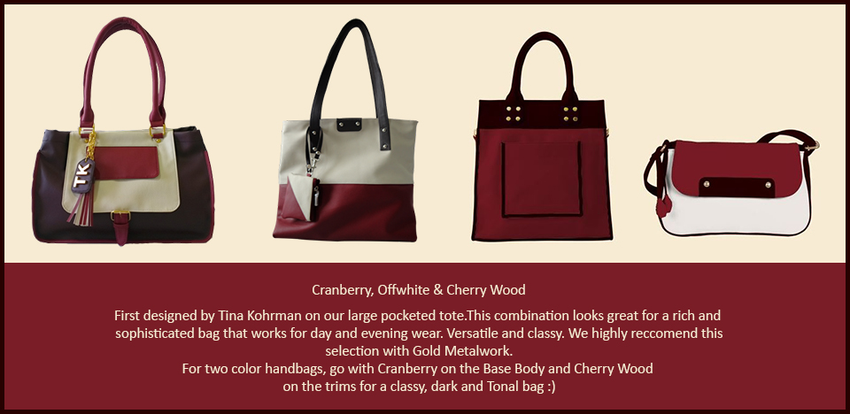 Toteteca Trend Cranberry Offwhite and Cherry Wood