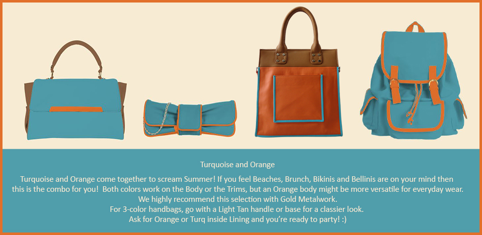 Toteteca Trend Turquoise and Orange